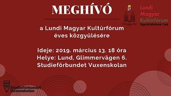 Lundi Magyar Kultúrfórum 2019-es évi közgyűlése