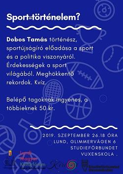 Sporttörténeti előadás